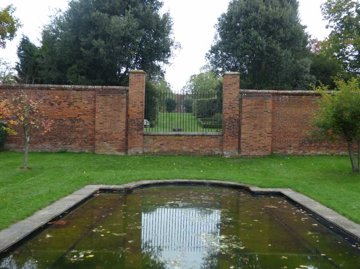 The Mirror Pond at Castle Bromwich Hall Gardens